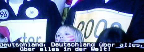 Tv svizzera, nell'inno tedesco  ricompare una strofa del Terzo Reich