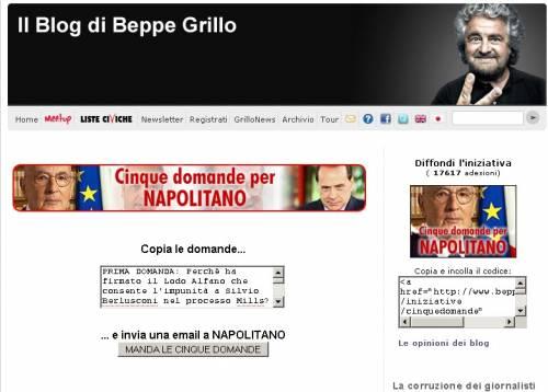 """Lodo Alfano, il Quirinale replica a Grillo: """"La Consulta valuta legittimità"""""""