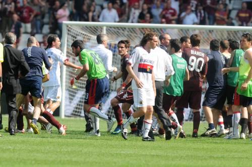 Torino: sette squalificati  dopo la rissa col Genoa
