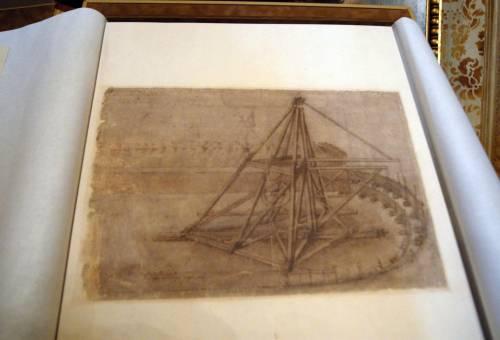 Anche Leonardo all'Aquila, in mostra 8 carte del Codice atlantico