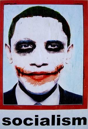 Los Angeles, Obama-Joker sui muri:<br /> &quot;Il presidente Barack è un socialista&quot;