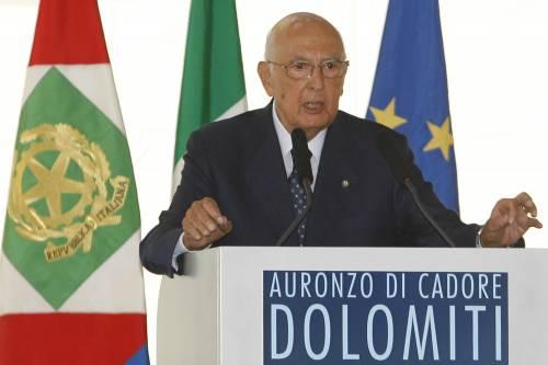 """Napolitano sulle Dolomiti: """"Italia inscindibile"""""""