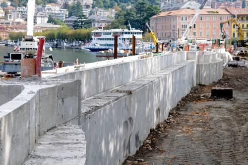 """Como, sarà abbattuto  il muro davanti al lago:  """"Sostituito con paratie"""""""