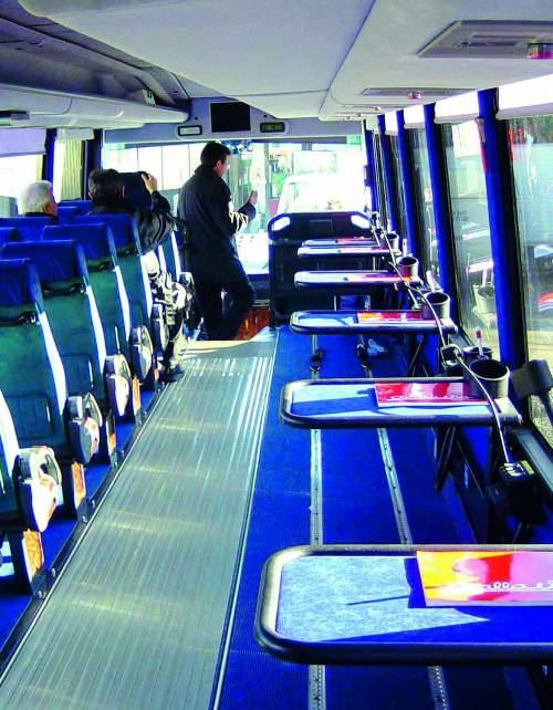 Stupita dal bus che fa salire i disabili a tempo di record