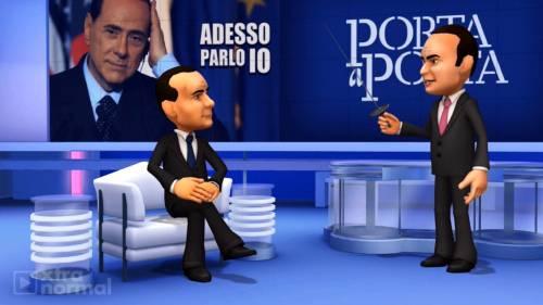 Porta a Porta diventa virtuale, Berlusconi e Vespa si trasformano in avatar