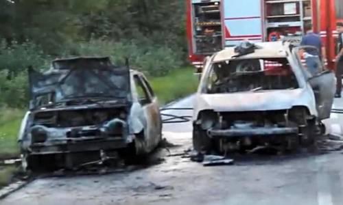 Udine, tragico incidente stradale:  carbonizzati la mamma coi due figli