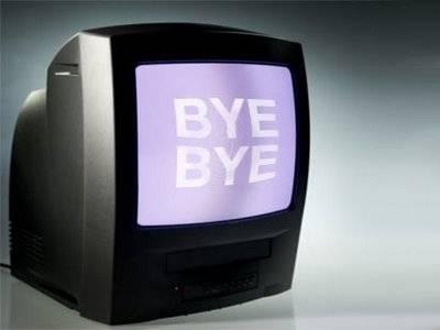 Si spegne la vecchia tv