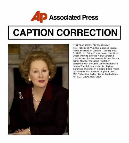 La Streep si trasforma in  Margaret Thatcher