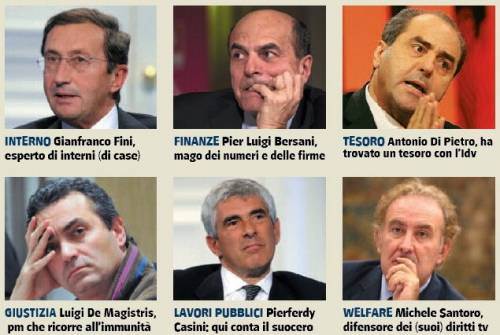 Divertiamoci: ecco il governo degli ipocriti  Da Fini a Di Pietro, passando da Visco e Casini...