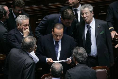 """Risoluzione, Berlusconi:  """"L'Italia abbia una voce""""  E la Lega apre al Pdl"""