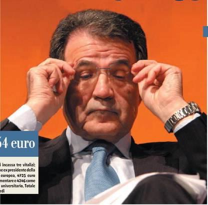 Il Prodi leader di sinistra  che si mette in tasca  tre pensioni al mese