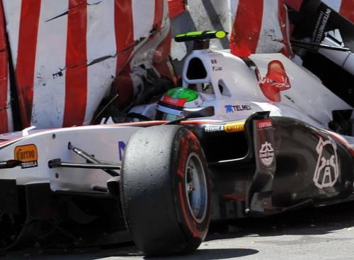 F1, paura a Montecarlo: Perez contro le barriere  Vettel è in pole position, Alonso soltanto quarto