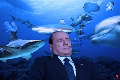 La sinistra sogna ancora  di ammazzare Berlusconi  Ora lo vuole annegato...