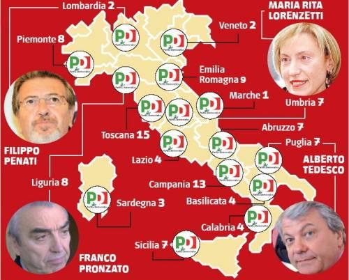 Tangenti, l'Italia è invasa dagli scandali Pd:  gli esponenti indagati sono 101, altro che fango