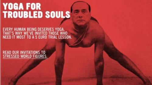 Olanda, Silvio testimonial per un corso di Yoga  Non solo la Ryanair sfrutta la sua immagine...