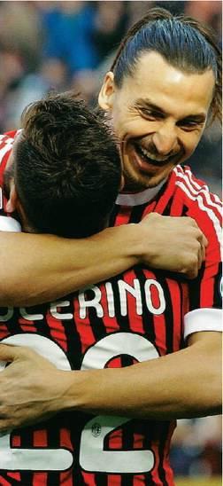 Ibrahimovic-Nocerino<br /> Adesso il Milan scappa <br />con la strana coppia