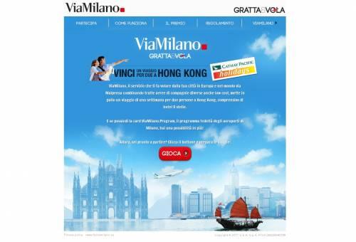 """""""Viamilano Gratta&Vola""""  e si vince un viaggio a Hong Kong per due"""
