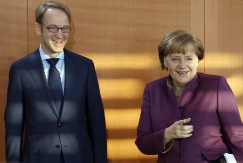 Angela Merkel e il presidente della Deutsche Bundesbank Jens Weidmann
