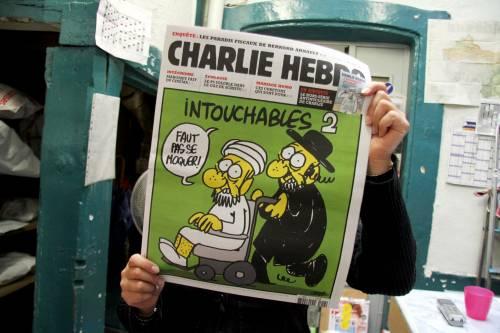 """L'edizione di """"Charlie Hebdo"""" con le vignette su Maometto"""