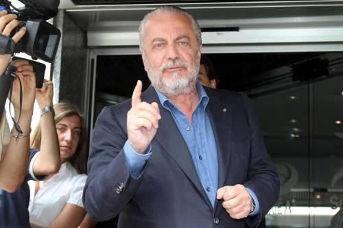 Il presidente del Napoli calcio Aurelio De Laurentis