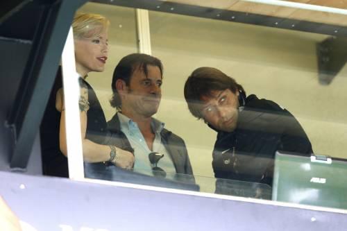 FOTO Valentina Mezzaroma in tribuna con Conte