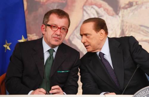 Il Cavaliere Silvio Berlsuconi e il leader della Lega Roberto Maroni