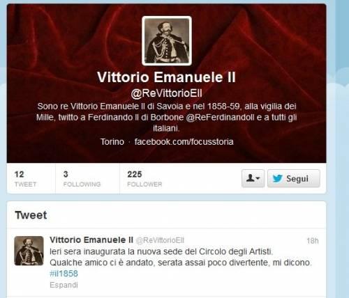 Vittorio Emanuele II e Ferdinando II di Borbone sbarcano su Twitter