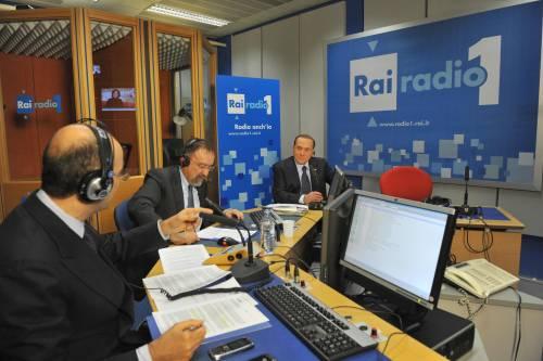 Silvio Berlusconi alla trasmissione radiofonica Radio anch'io