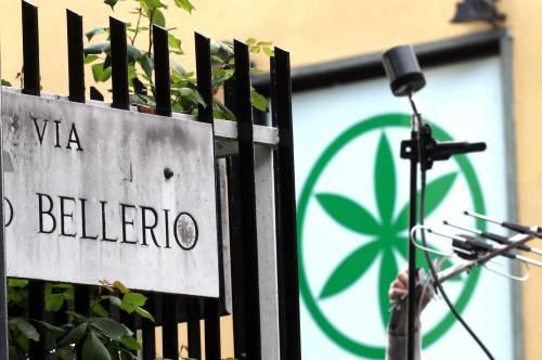 Via Bellerio, sede della  Lega Nord a Milano