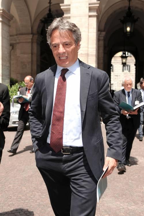 Il presidente dell'Abi Giuseppe Mussari