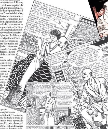 D'Annunzio a fumetti tra grandi imprese e avventure d'amore