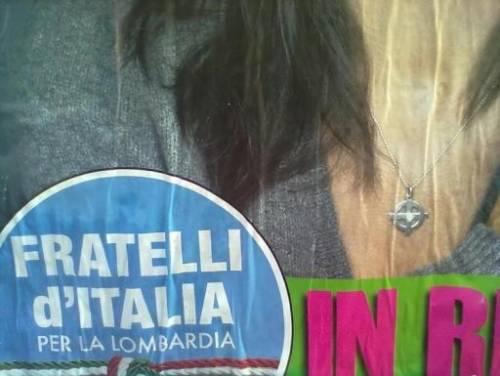 """Gli ultrà della sinistra milanese contro la Capotosti: """"Tolga la celtica dai manifesti"""""""