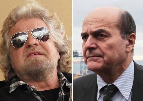 """Rimborsi, Grillo sfida Bersani: """"Firma qui per rinunciare"""" E ribadisce il no alla fiducia"""
