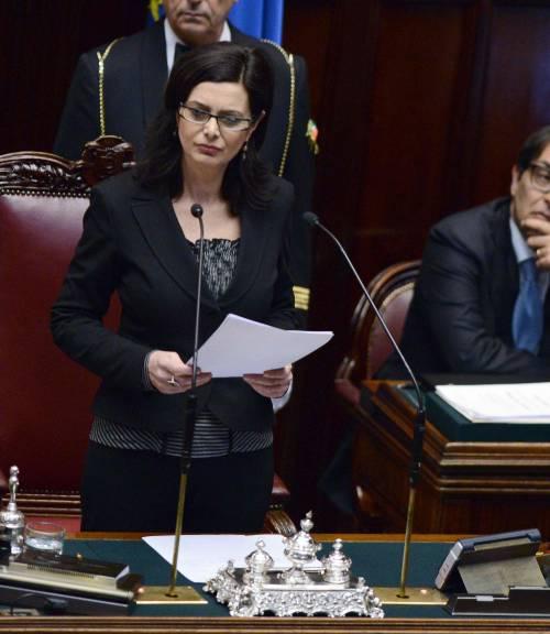 La neopresidente della Camera Laura Boldrini