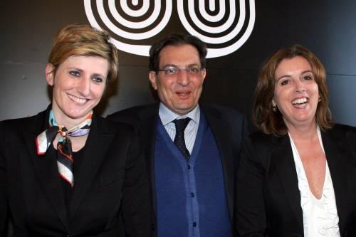 Il governatore della Regione Sicilia Rosario Crocetta con i nuovi assessori Michela Stancheris