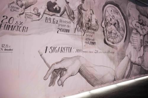 L'Humanitas al Salone del Mobile dipinge con le sigarette