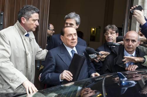 Silvio Berlusconi lascia Montecitorio