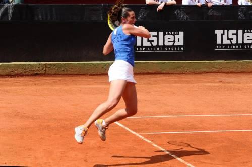 Roberta Vinci durante il match contro Lucie Safarova