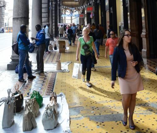 Gli ambulanti come cartolina di Genova