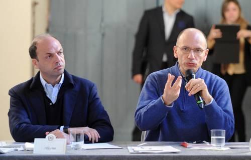 Il premier Enrico Letta col vicepremier Angelino Alfano