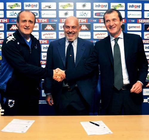 La firma di Rossi lancia il nuovo «piano Sampdoria»Intesa biennale, resta anche Osti