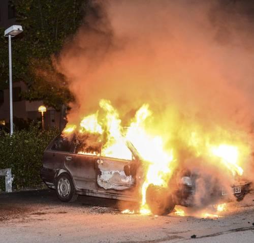 Svezia Più vandalismo che protesta