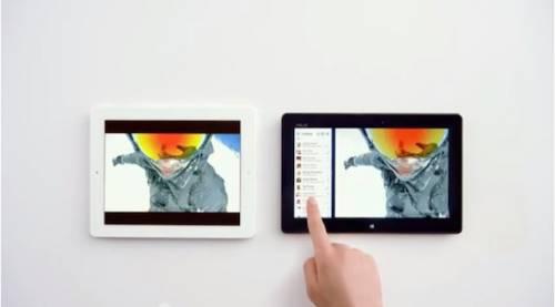 """Microsoft prende in giro l'iPad: """"Meno parole, più fatti"""""""