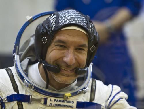 L'astronauta Parmitano nella stazione spaziale internazionale
