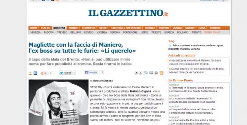 T-shirt con la faccia di Maniero, ma il boss del Brenta si offende...