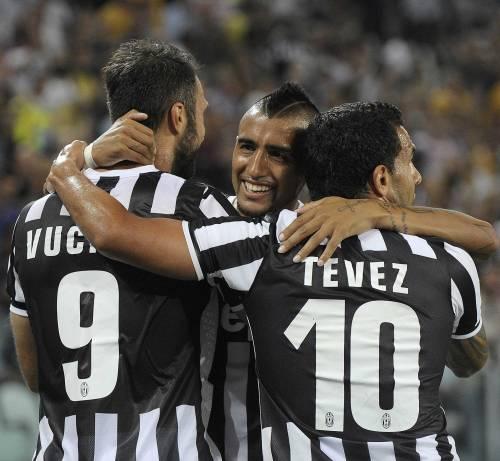 Vidal fa il goleador ed è sempre Juve show