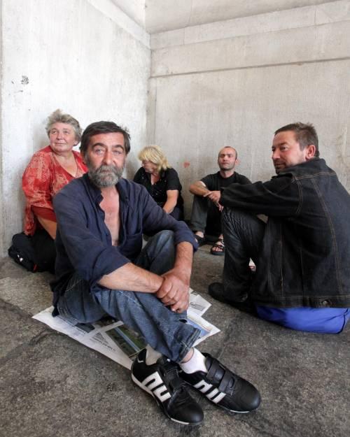 Mendicanti e senzatetto È la stazione degli ultimi