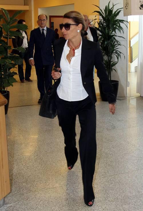 Giulia Ligresti arriva all'assemblea di Premafin