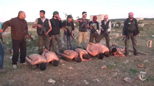 New York Times, Siria: in un video l'esecuzione di sette militari lealisti