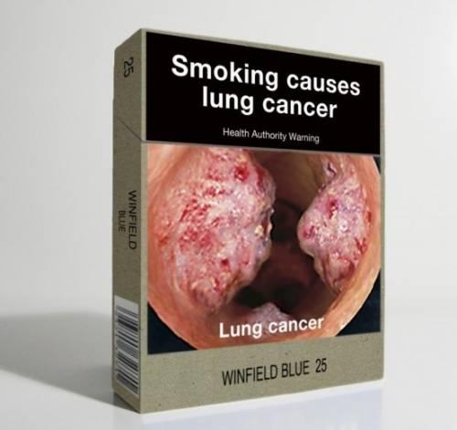 Tumori ai polmoni e alla gola sui pacchetti di sigarette L'ultima dello Stato moralizzatore
